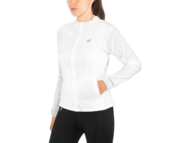 asics Packable Jacket Damen brilliant white